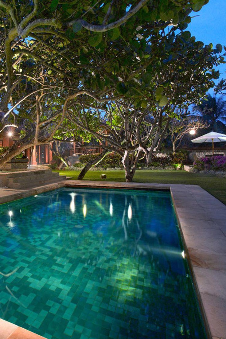 Pool on the evening at Grand Hyatt Bali