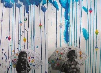 Parapluies 39 photo peinture lignes verticales ecole for Art plastique peinture