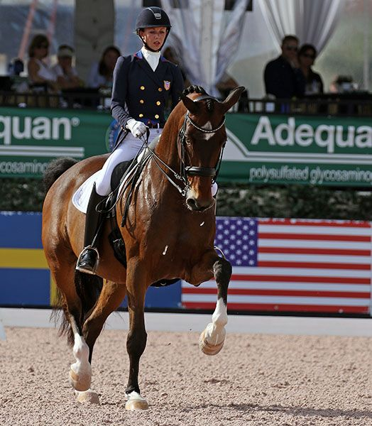 Laura Graves and Verdades in the World Cup Grand Prix, the first competition since the pair were on the U.S. bronze medal team at last summer's Olympics. © 2016 Ken Braddick/dressage-news.com