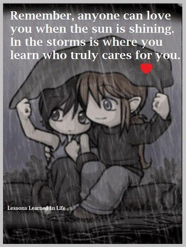 Storms reveal true love and friendship