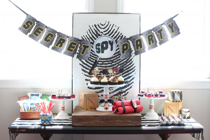 Craft That Party: SPY Birthday Party