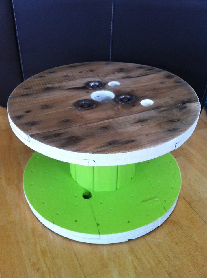 Side Tables, Up cycled from old Cable Reels