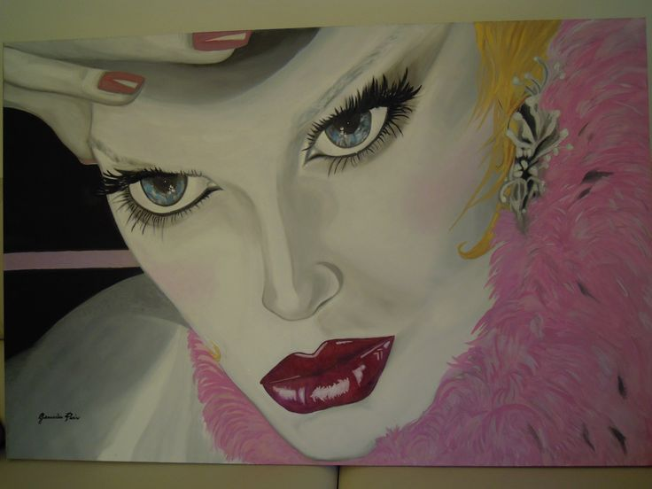 Pink Oracle Oil on canvas 120X100 by Giancarla Parisi