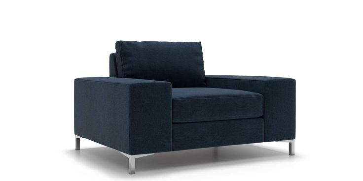 Tova Arm Chair in Deep Water Blue by Kavuus.com (Made in Canada)