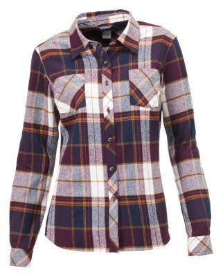 Natural Reflections Long-Sleeve Flannel Shirt for Ladies - Burgundy Plaid -… #camping #hiking #outdoors #shooting #fishing #boating #hunting
