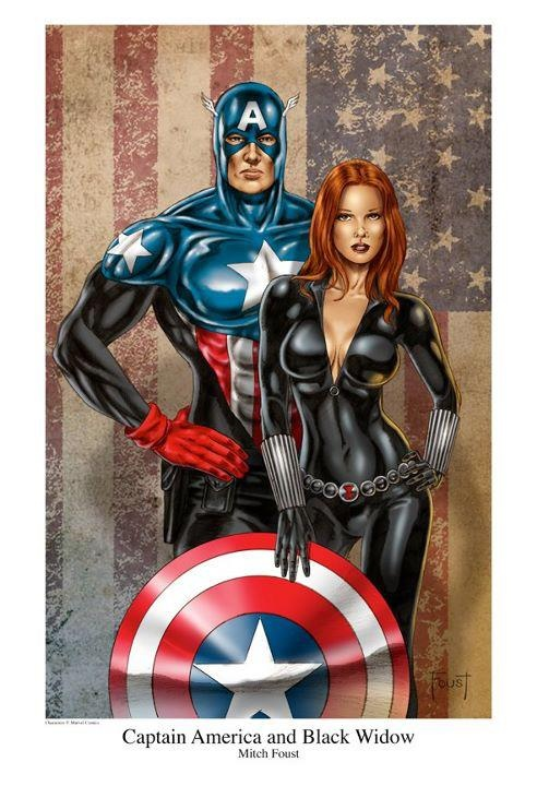 Captan America and Black Widow Amazing Discounts Your #1 Source for Video Games, Consoles & Accessories!