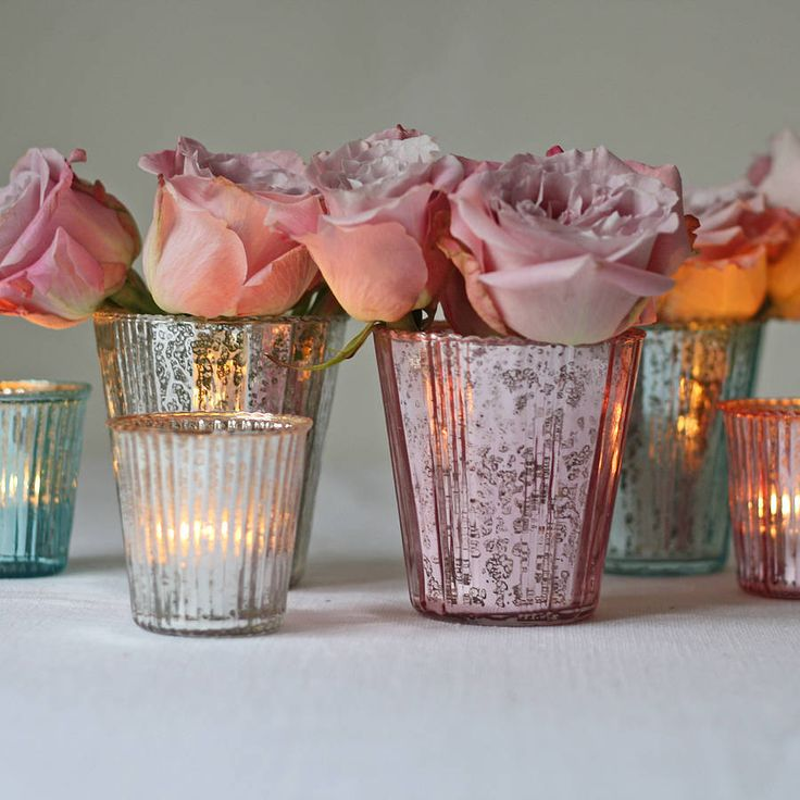 ribbed mercury glass vase or votive by the wedding of my dreams | notonthehighstreet.com