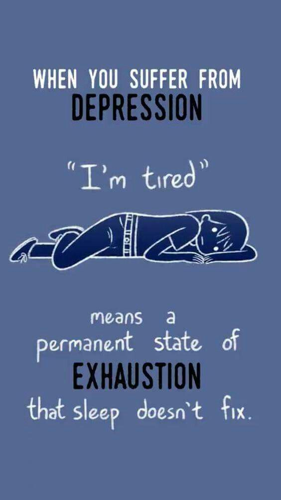 what does mentally exhausted mean