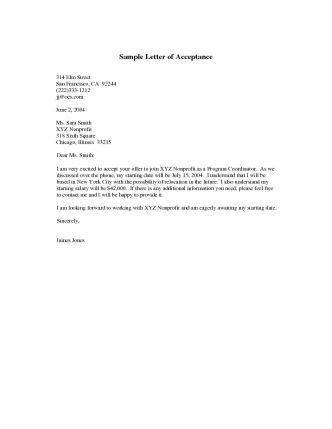 How to write an admission letter