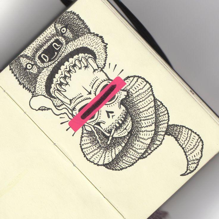 Handmade on Moleskin by Visualflip AKA Filo Restrepo