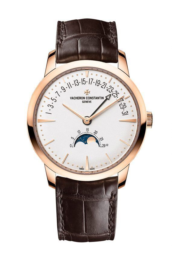 Vacheron Constantin Patrimony Moon phase Retrograde Date - rose gold - front
