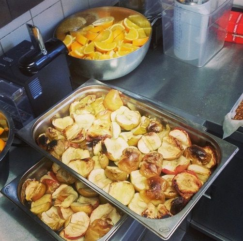 Lovely roasted apples for pudding at Christ Church Primary.