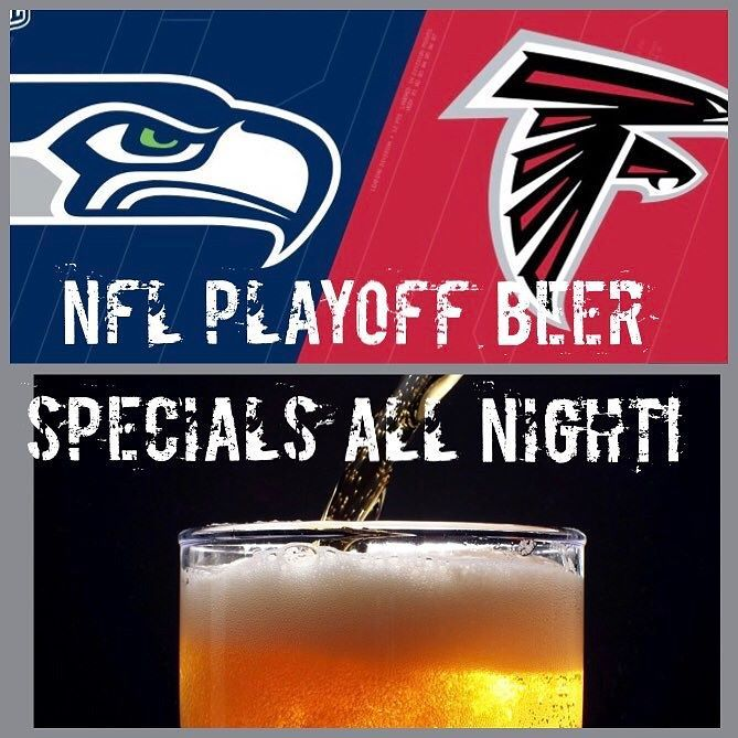 NFL PLAYOFF TIME! Draft beer specials during all games! .50 WINGS! 20 TVs! #seahawks #falcons #beer #draftbeer #northhaven #sportsbar #nfl