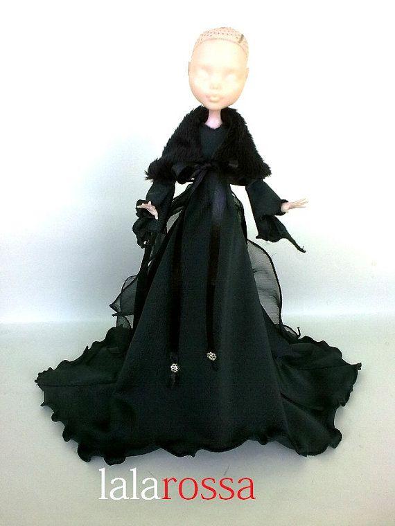 Abito lungo per bambola mostro . Abito per Monster . MH vestito, fascion mh , mh vestito da sera
