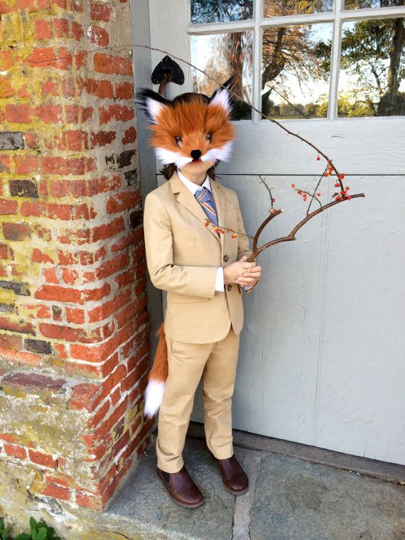 Children's Faux Fox Fur Paper Mask handmade by by SpiritParade                                                                                                                                                                                 More