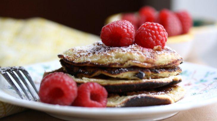 Sweet Almond Pancakes with Fresh Raspberries Recipe   Yummly