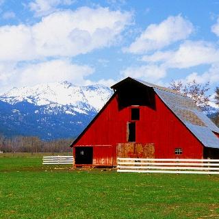 Gailen!  Is this your barn?: Wallowa Mountain, Halfway Oregon, Barns Wallowa, Barns Photography, Eastern Oregon, Red Barns, Mountain Photography, Country Rustic, Country Barns