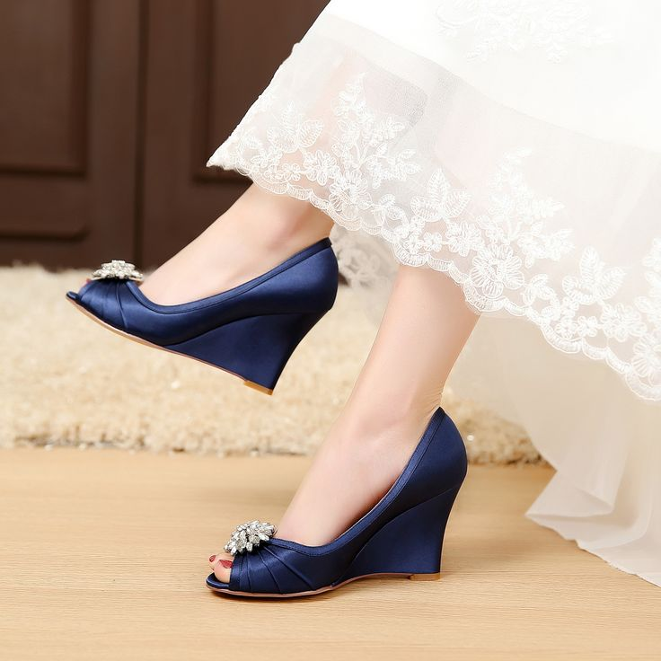27 Best LUXVEER Satin Bridal Shoes With Silver Rhinestone