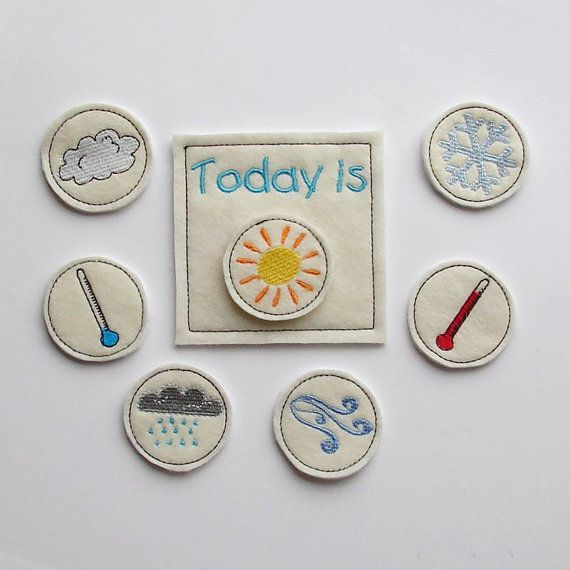 Kids Weather Chart - Toddler Educational Toy - Preshool -  Learning Weather - Felt Toy on Etsy, $12.00