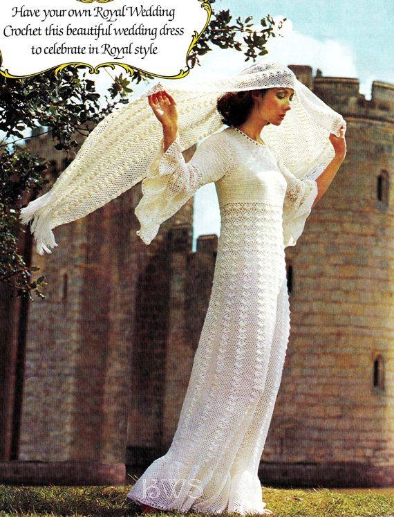 CROCHET Wedding Dress Pattern - Crochet Wedding Gown Dress PDF Pattern - Instant Download $4.99 USD
