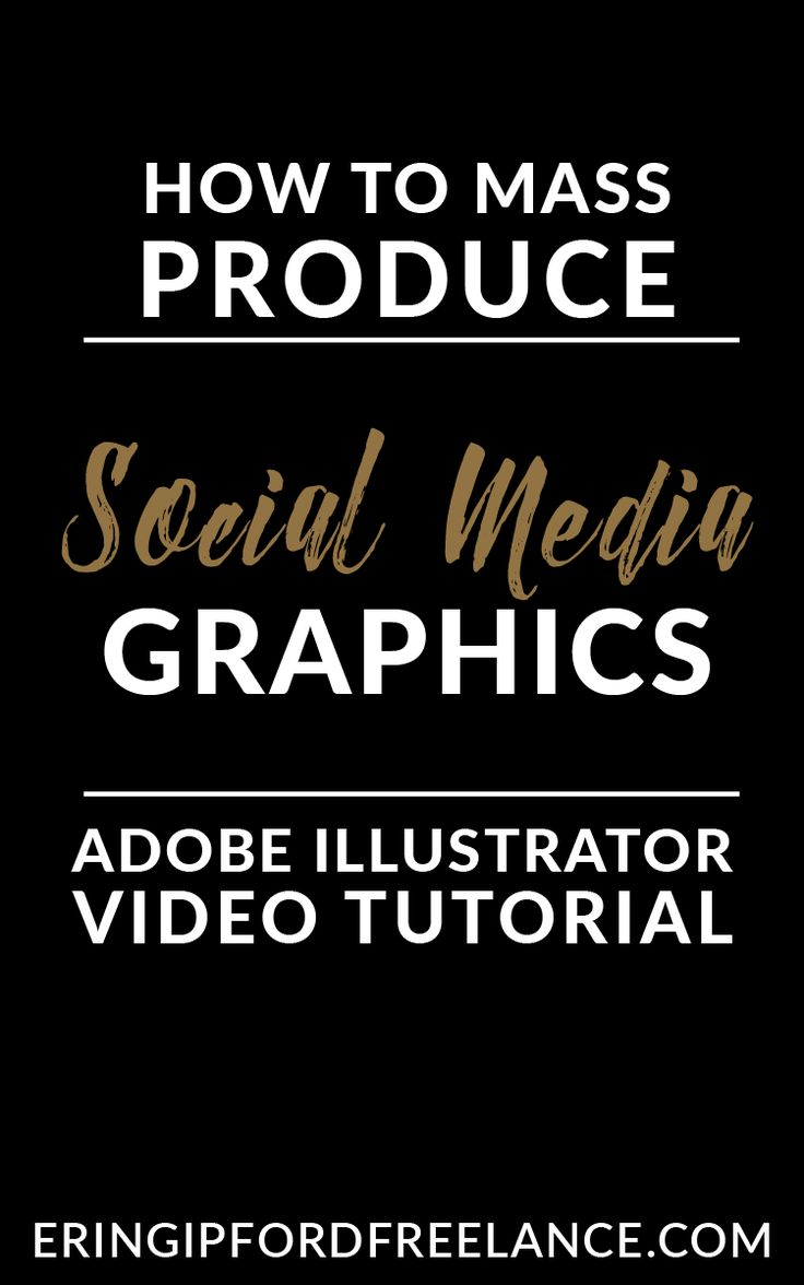 Adobe Illustrator Tutorial: Learn how to mass produce (batch) social media graphics so you can work smarter instead of harder.