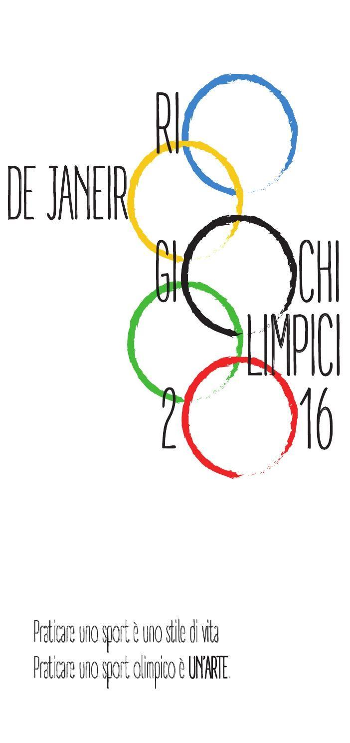 N 88 - Progetto di ARIENTI DIANDRA - LICEO ARTISTICO NANNI VALENTINI - MONZA  Calendario ACSG 2016 - Giochi Olimpici 2016  -Premio Giuseppe Musmeci -  Lavoro selezionato dalla Giuria