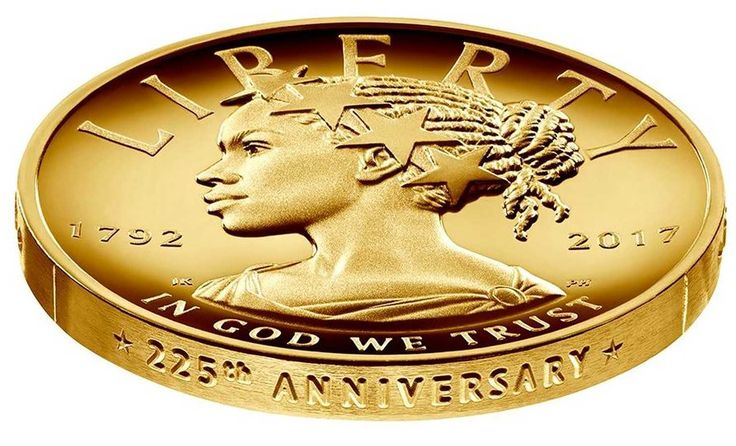 Lady Liberty is 'modeled after our society's continued evolution.' In this new coin, she is black. - The Washington Post