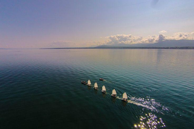 Lac Leman ,Versoix Switzerland.