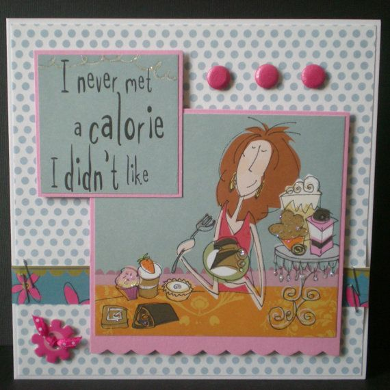 Handmade Birthday Card Female Blank Born To Shop Cake By Jujucards, £2.25