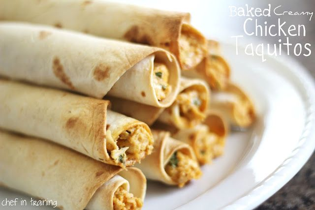 Baked Creamy Chicken Taquitos | Chef in Training
