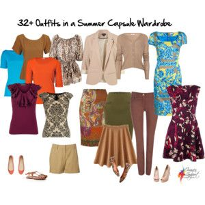 32 Outfits in a Summer Capsule Wardrobe