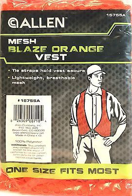 Blaze Orange Vest - Allen Safety Vest - MESH - One Size Fits Most 15755A