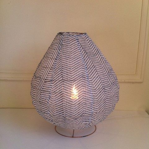 Kyoto French Table Lamp Indigo #interior #design #decorate #interiordesign #light #lamp #lighting #french