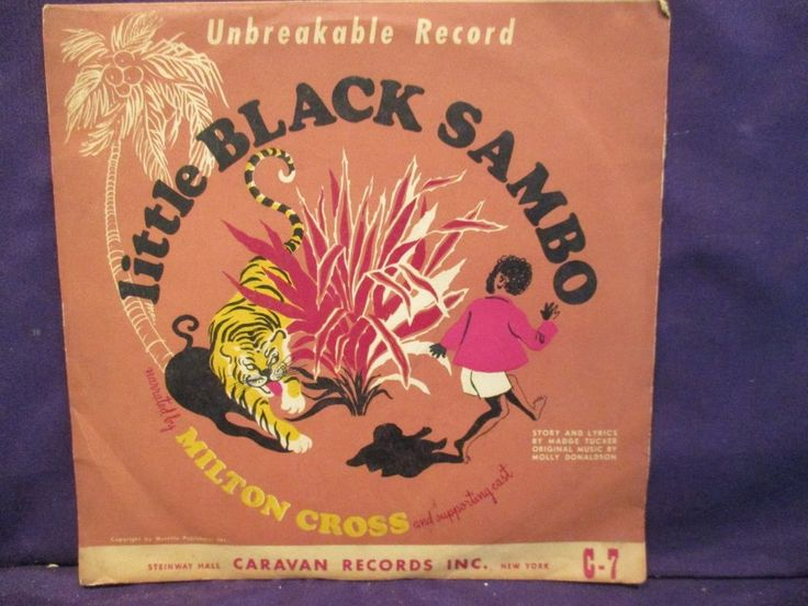 """Little Black Sambo 10"""" RED 78 Narrated By Milton Cross $25.00"""