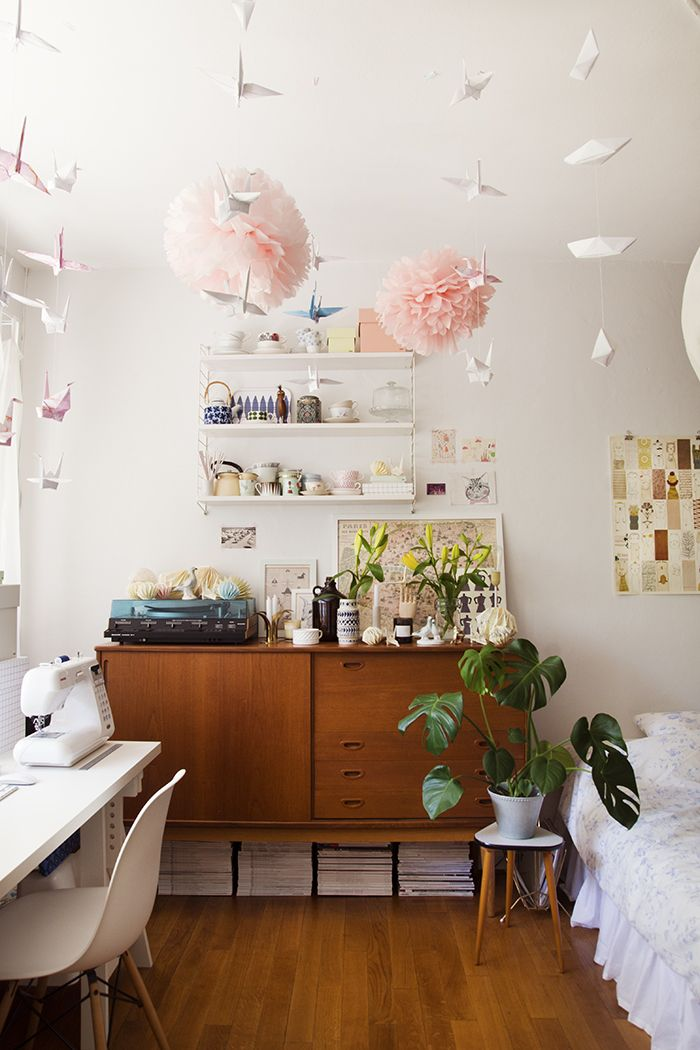 Workspace in bedroom.