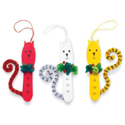 1000 images about christmas ornaments for kids to make on for Cat christmas ornaments craft