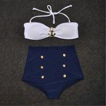 High waistes anchor bikini