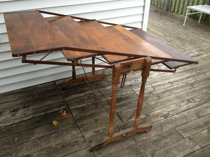 Rare Folding- Baker's Rack/Table, Cheesmaker's Table converts table to shelves