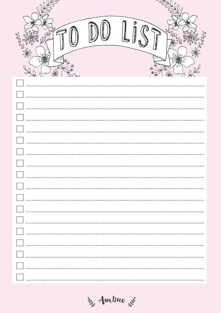 Free Printable Blush Pink To Do List