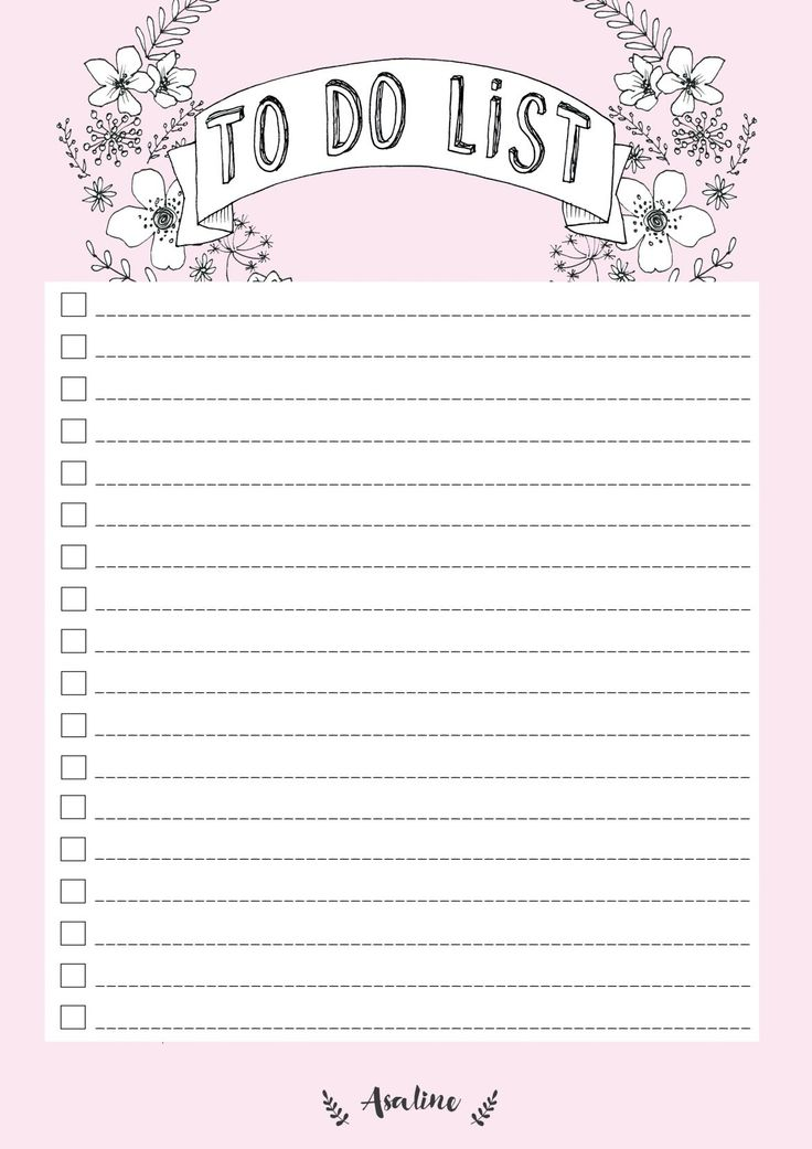 Free Printable Blush Pink To Do List