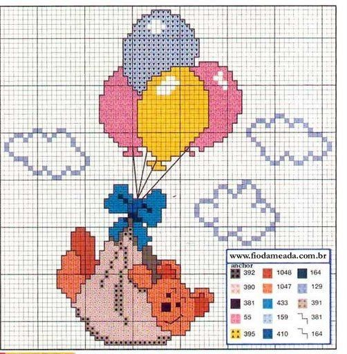 Πολύ όμορφα σχέδια για σταυροβελονιά   Για να δείτε κι άλλα σχέδια με αρκουδάκια κάνετε κλικ εδώ .  Click here to see some more teddy b...