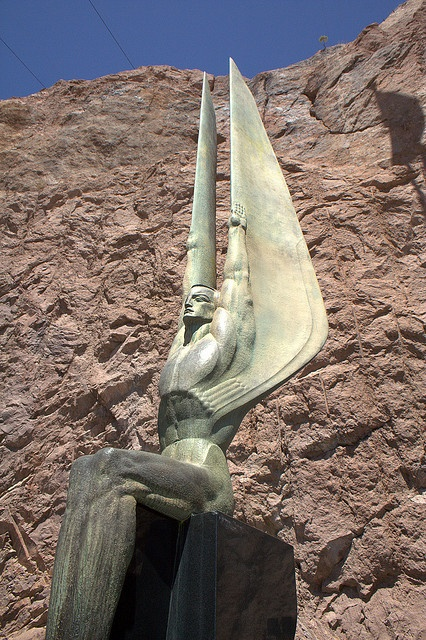 Hoover Dam Art Deco Sculpture by H Dragon, via Flickr