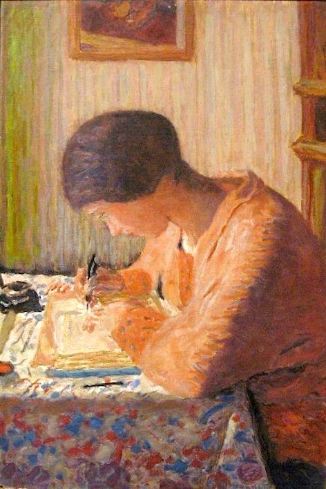 """Pierre Bonnard """"Escríbeme un poema, le dijo él. Ella tomó una servilleta y escribió: Existes."""" """""""