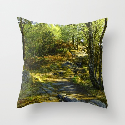 Norwegian Woods  Throw Pillow by Håkon Jørgensen - $20.00
