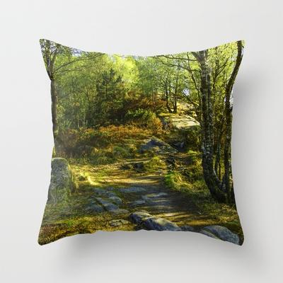Norwegian Woods  Throw Pillow by Håkon Jørgensen - $20.00