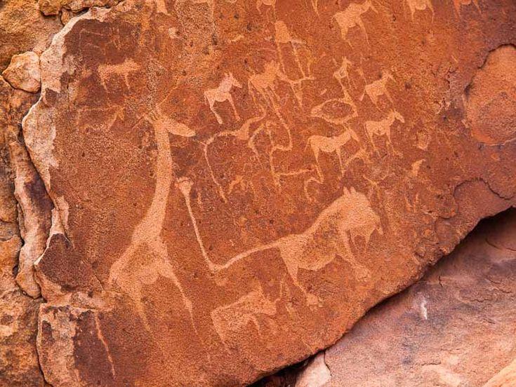 animals and symbols, Twyfelfontein, Namibia
