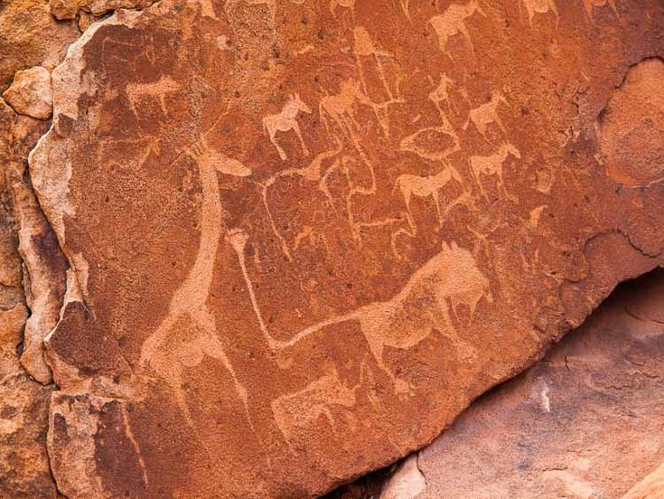 animals and symbols, Twyfelfontein, Namibia
