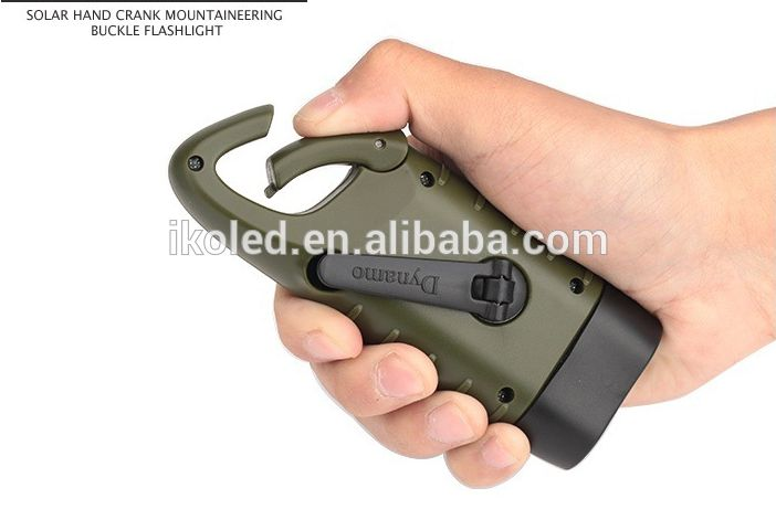 Good Quality And Best Selling Solar Hand Crank Mountaineering Buckle Flashlight,Small Portable Camping Torch , Find Complete Good Quality And Best Selling Solar Hand Crank Mountaineering Buckle Flashlight.     US $2.5 - 4 / Piece