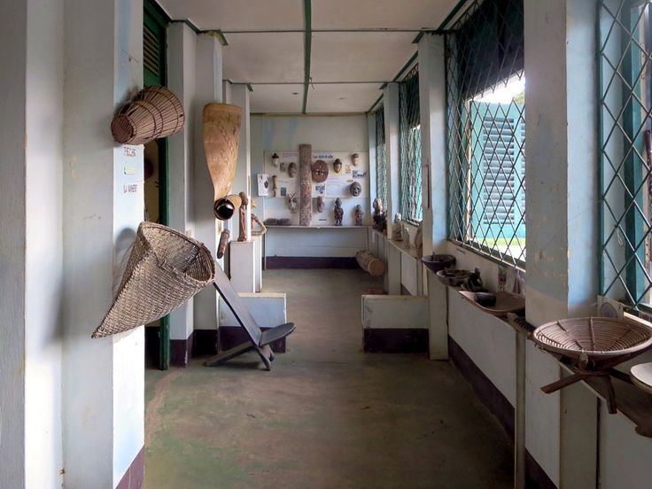 Exhibits in the Ma-Loango Regional Museum, north of Pointe-Noire, Republic of Congo, illustrate traditional life and culture.