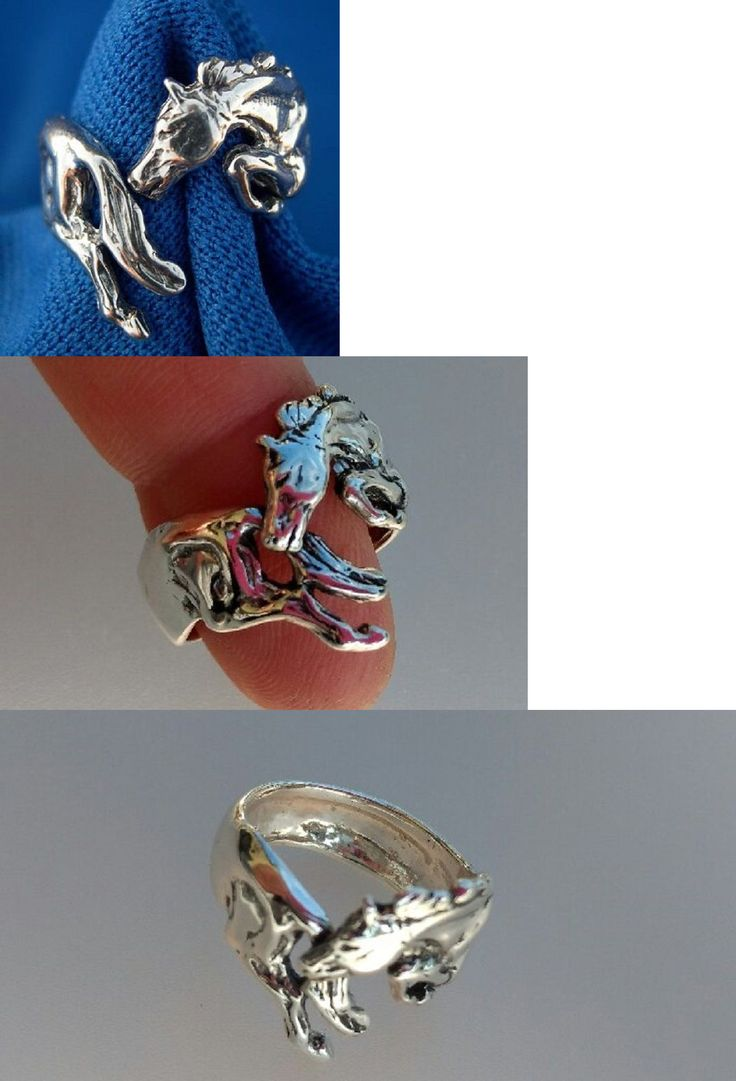 English Show Accessories 160041: Horse Jewelry Silver Jumper Ring One Size Fits All Zimmer Jewelry BUY IT NOW ONLY: $45.5